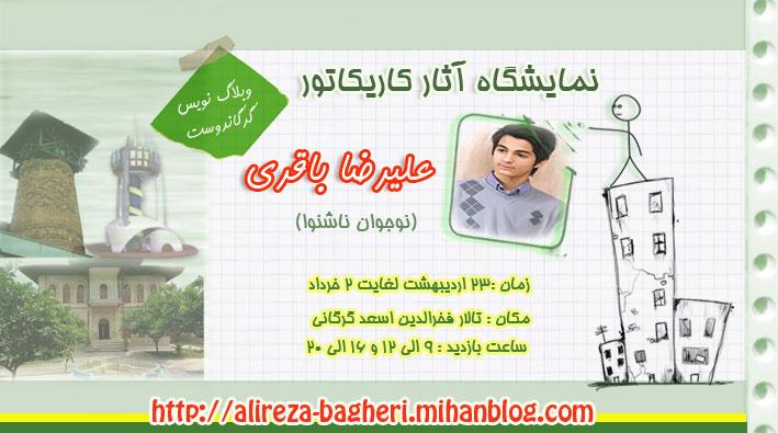 نمایشگاه آثار علیرضا باقری نوجوان ناشنوای گرگانی
